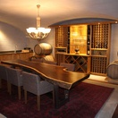 Wine Cellar with Leadwood Table
